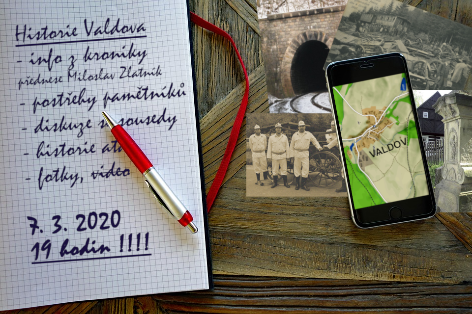 Pozvánka na přednášku o historii Valdova, která se koná 7.3.2020