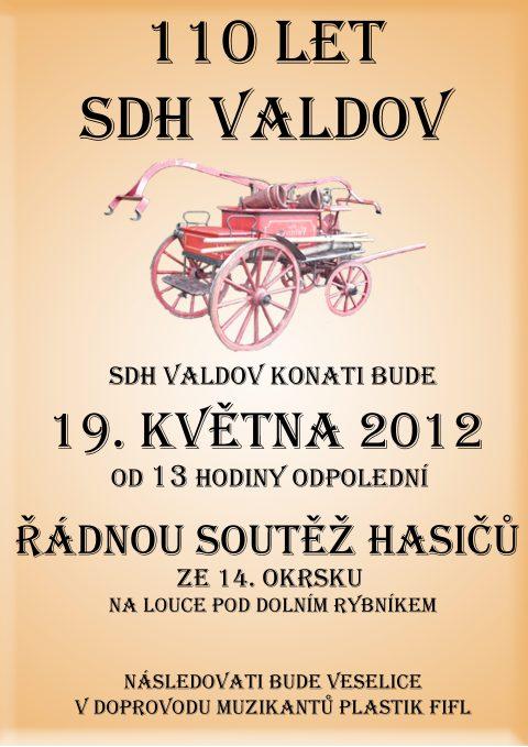 Plakát okrkové soutěže ve Valdově 2012