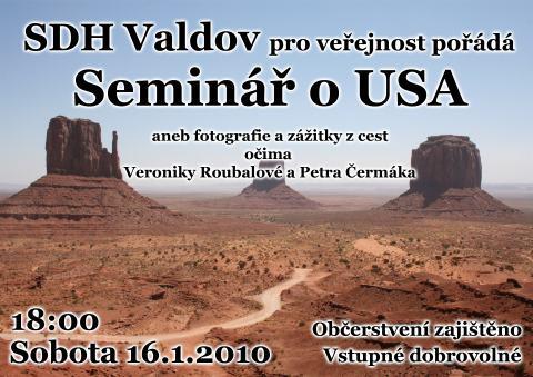 Pozvánka na seminář o USA