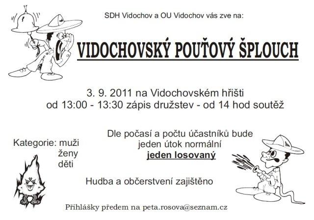 Pozvanka na vidochovský pouťový šplouch.