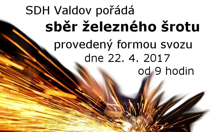 Sběr železného šrotu proběhne 22.4.2017 od 9:00