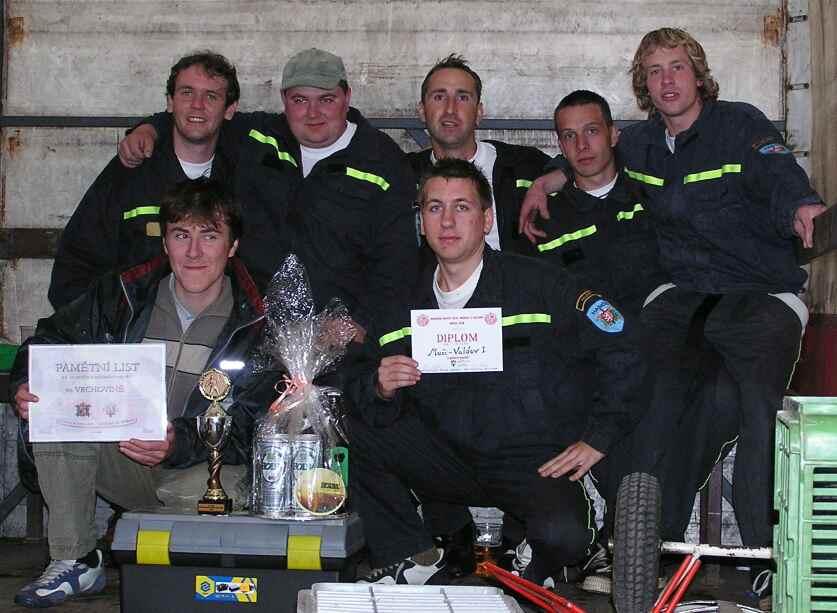 Fotografie týmu na okrskové soutěži ve Vrchovině