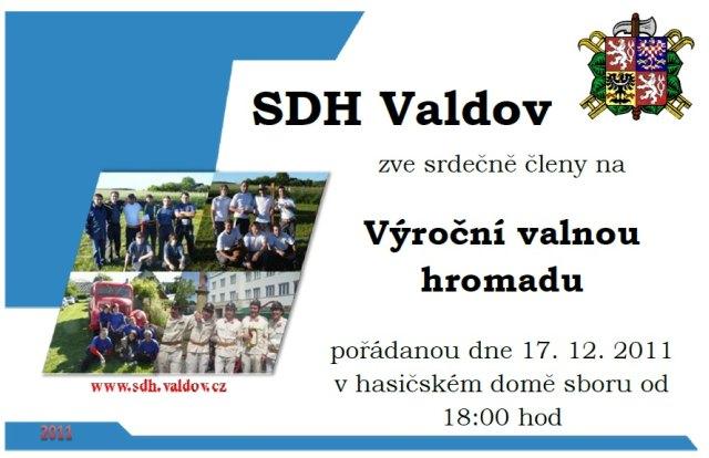 Pozvánka na výroční valnou hromadu 2011