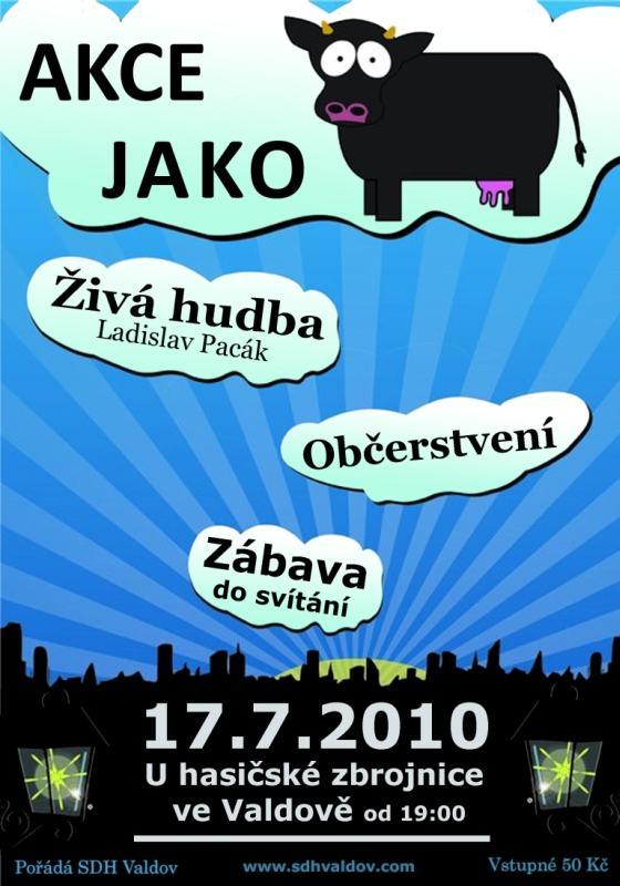 Plakát - Zábave ve Valdově - Akce jako kráva
