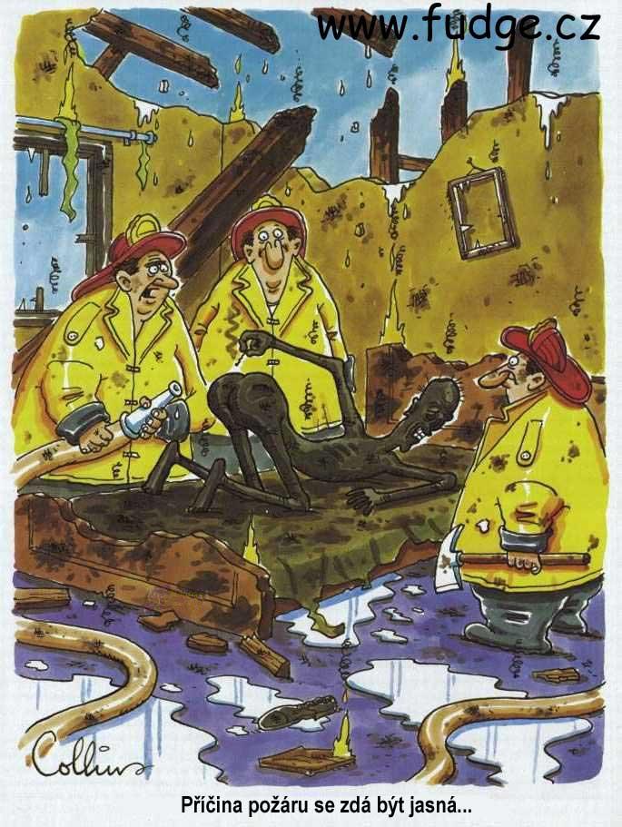 Vtip s hasičema