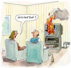 Vtipný obrázek s ohněm