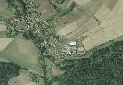 Letecký snímek Valdova